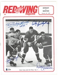 Bathgate/Prentice/Young Autographed 1967 Red Wings Program