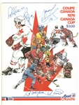 1976 Canada Cup Program Signed by 4 HOFers