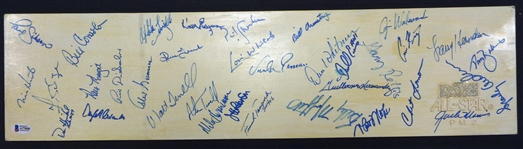 Detroit Tigers 1988 Team Signed Pitching Rubber