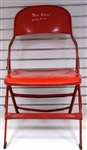 Joe Louis Arena Folding Chair Autographed by Ted Lindsay