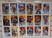 Legends of Hockey Uncut Sheet Signed by 7