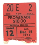 Olympia Stadium Final Game Ticket