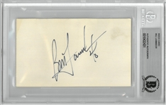 Bill Laimbeer Autographed 3x5 Index Card