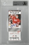 Chris Osgood Signed Ticket