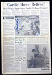 Gordie Howe Autographed 1971 Retirement Newspaper