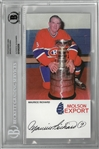 Maurice Richard Autographed Card