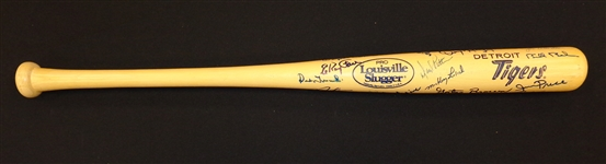 1968 Detroit Tigers Team Signed Bat