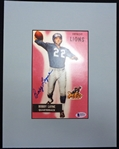 Bobby Layne Autographed Matted Photo