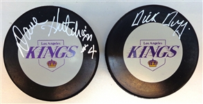 LA Kings Autographed Puck Lot