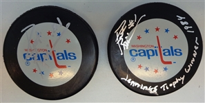 Washington Capitals Autographed Puck Lot