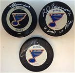 St. Louis Blues Autographed Puck Lot
