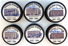 Chicago Black Hawks Lot of Autographed Stadium Pucks