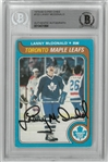 Lanny McDonald Signed 79-80 OPC Card