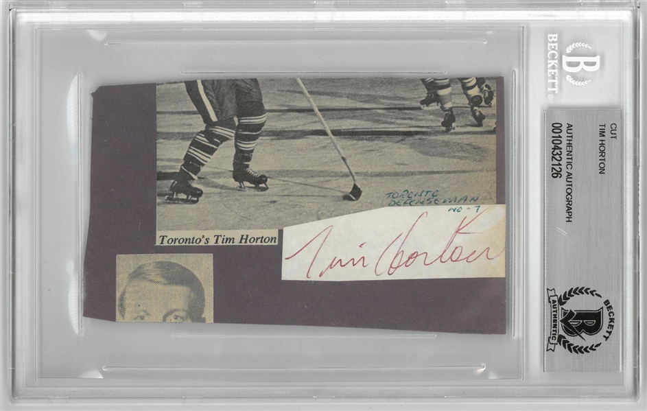 Tim Horton Cut Signature