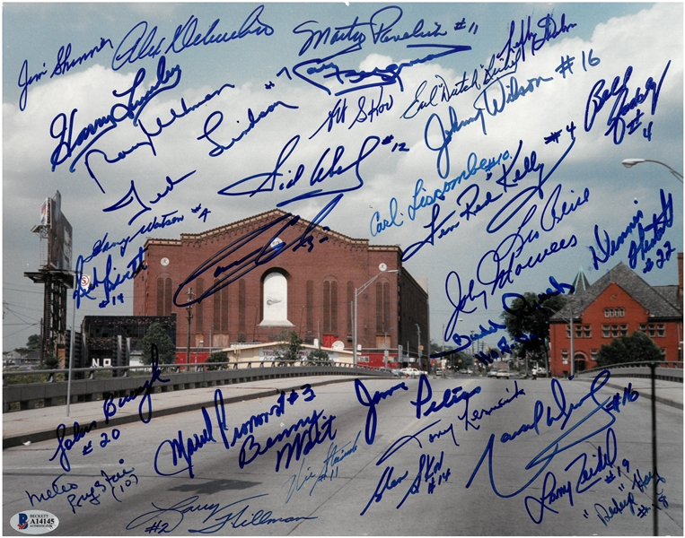 Olympia 11x14 Signed by 24 Red Wings