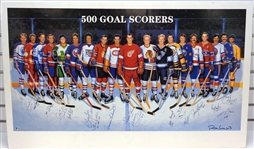 500 Goal Scorers Litho Signed by 18 of 19