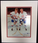 Gretzky & Howe Autographed Matted Photo