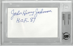 John Henry Johnson Autographed 3x5 Index Card
