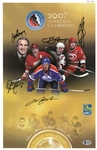 2007 Hockey Hall of Fame Inductees 11x17 Signed by All 5