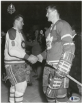 Maurice Richard & Allan Stanley Autographed 8x10 Photo