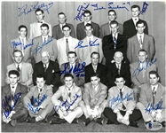 1950/51 Red Wings Team Signed 8x10 Photo