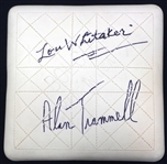 Alan Trammell & Lou Whitaker Autographed Base