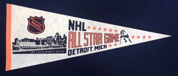 1980 NHL All Star Game Pennant - Howes Last Gretzkys 1st