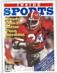 Herschel Walker Autographed 1981 Inside Sports Magazine