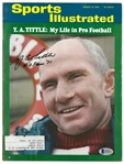 Y.A. Tittle Autographed 1965 Sports Illustrated