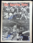 Bell/Lynch/Lanier Autographed 1968 Sporting News