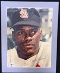 Bob Gibson Autographed Matted Photo