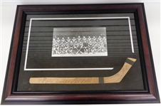 1935/36 Detroit Red Wings & Olympics Team Signed Mini Stick