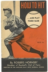 "Rogers Hornsby Signed ""How to Hit and Play Third Base"" Instructional Bookley"