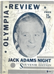 1940/41 Red Wings Team Signed Jack Adams Night Program