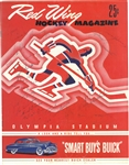 1952/53 Red Wings Team Signed Program with Sawchuk