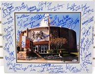 Football Hall of Fame Signed Photo - 52 Autographs
