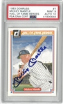 Mickey Mantle Autographed PSA 9/10 1983 Donruss
