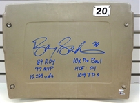 Barry Sanders Signed Stats Silverdome Seat Back