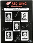 Howe/Richard/Beliveau/Lindsay Signed Program