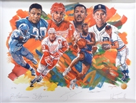 """Our MVPs"" Signed AP Litho - Yzerman, Sanders, Dumars, Trammell"
