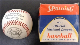 1952-1969 Warren Giles Spalding Official National League Baseball with Box