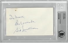 Sid Luckman Autographed 3x5 Index Card
