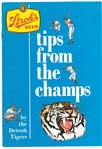 1968 Detroit Tigers Strohs Tips From The Pros Booklet