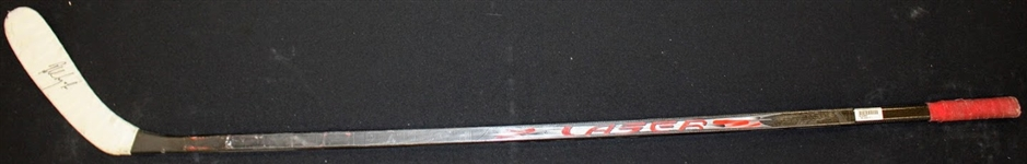 Robert Lang Autographed Game Used Stick