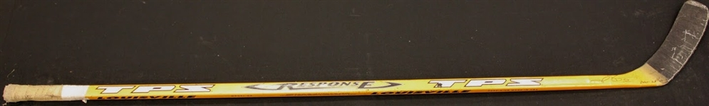 Jiri Fischer Autographed Game Used Stick