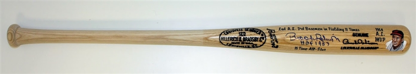 Brooks Robinson Autographed Hand Painted Game Model Bat