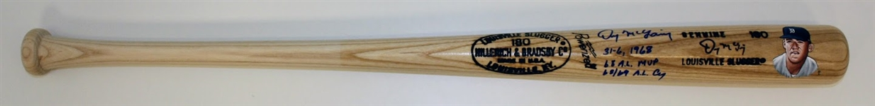 Denny McLain Autographed Hand Painted Game Model Bat