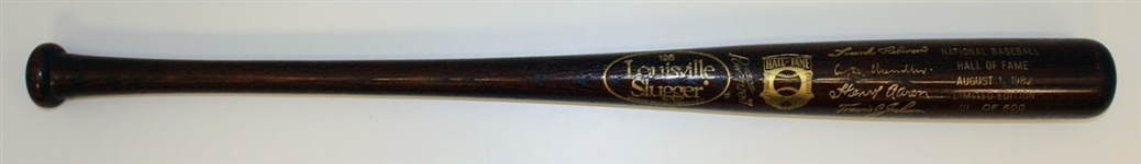 Frank Robinson Autographed Hall of Fame Comm Bat