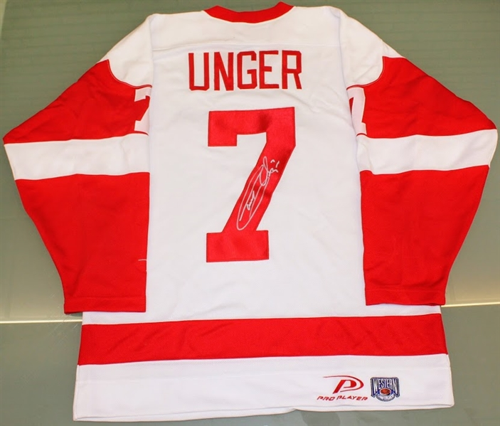 b67b35f0c Lot Detail - Gary Unger Autographed Red Wings Jersey