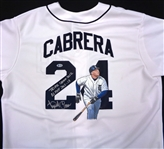 Miguel Cabrera Signed Inscribed Hand Painted Jersey